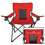CollegeFanGear Alpha Gamma Delta Deluxe Red Captains Chair 'Official Logo'