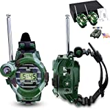 VANVENE Watch Walkie Talkies For Kids Long Range Two-Way Radio Walky Talky Camo Outdoor Army Toys 150 Meters (2 PACK)