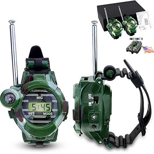 VANVENE Watch Walkie Talkies For Kids Long Range Two-Way Radio Walky Talky Camo Outdoor Army Toys 150 Meters (2 PACK)