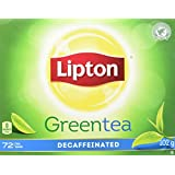 Lipton Green Tea Decaffeinated Tea Bags 72 Count
