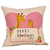 Happy Mother's Day Pillow case,EOWEO Happy Mothers' Day Pillow Cases Sofa Cushion Cover Home Decor Pillow Case(45cm×45cm,Multicolor-J)