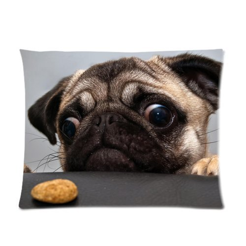 Pug Dog Custom Pillowcase Only