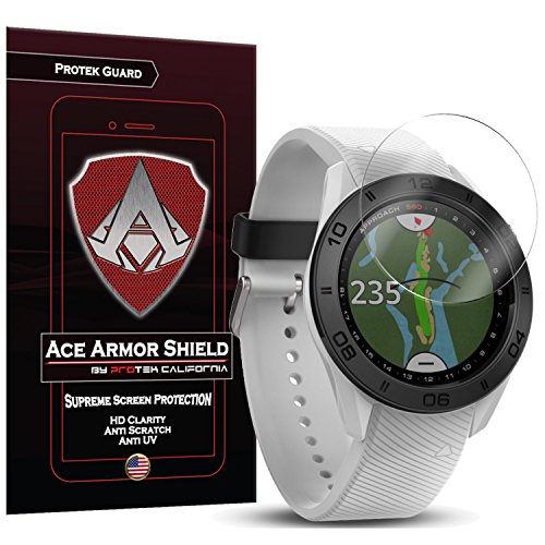 Ace Armor Shield ProTek Guard (6 PACK) Screen Protector for the Garmin Approach S60 with free lifetime Replacement warranty