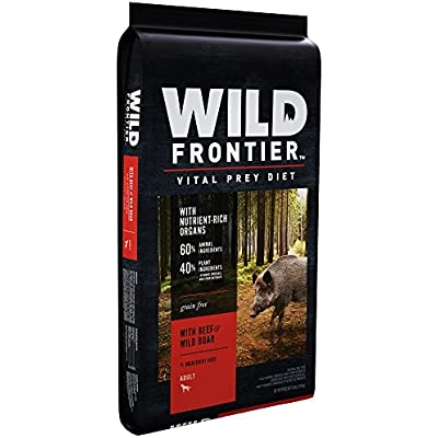 WILD FRONTIER VITAL PREY Adult Dry Dog Food with Beef & Wild Boar, 24 Pound Bag