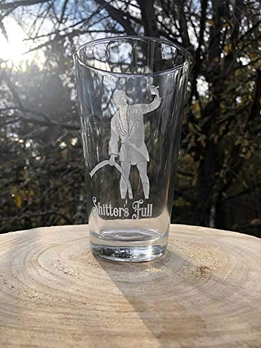 Cousin Eddie Christmas Family Vacation Inspired Laser Engraved Etched Barware RV Shitters Full Craft Beer Pint Glass 16 oz Secret Santa Funny Gift]()