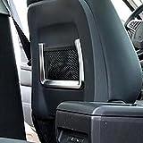 Kadore Back Driver Seat Net Pocket Decoration Trim For Jaguar F-PACE 2016-2018 ABS Matte 2PCS/SET