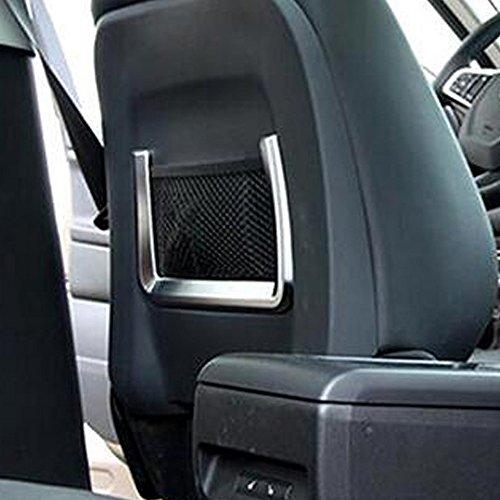 Kadore Back Driver Seat Net Pocket Decoration Trim For Jaguar F-PACE 2016-2018 ABS Matte 2PCS/SET by Kadore