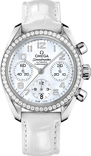 Women's Omega Speedmaster Chronograph Diamond Watch 324.18.38.40.05.001