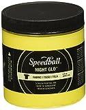 Speedball Art Products Night Glow Fabric Screen Printing Ink, 8oz, Yellow