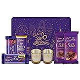 Cadbury Assorted Chocolates Diwali Gift Pack, 275g - With Glass Diyas Inside