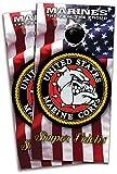 USMC Marines Bulldog Cornhole Bag Toss Wraps Set - 3M High Gloss Vinyl with Air Release - Laminated - 24x48'' - Set of 2