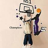 Changeshopping Basketball Dunk Sports Vinyl Decal Art Wall Sticker DIY Home Room Decor