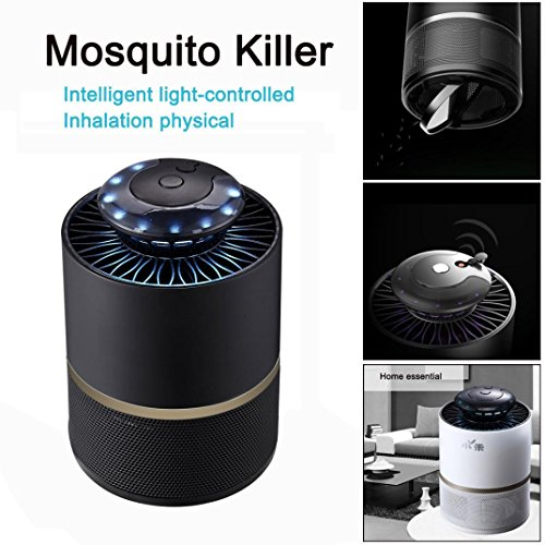 Stheanoo Electronic Mosquito Non-Chemical, Non-toxic, Non-polluted Fly Bug Insect Killer Best for Home, Bedroom, Living Room Pest Control (Black) by Stheanoo Zapper (Image #2)