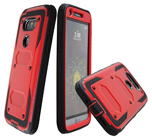 Tough Hybrid Dual Layer Case for LG G5 (Red) - 1