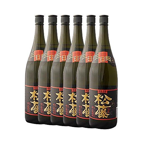 【送料無料】泡盛 黒の松藤 一升瓶30度 1800ml×6本(1ケース)/崎山酒造廠 B07254DVZ6