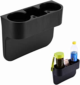 Yosoo Universal Auto Truck Car Seat Drink Cup Holder Valet Beverage Can Bottle Food Mount Stand Storage Box (Black)