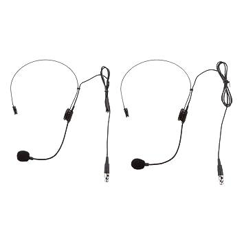 Homyl 2 x Kopfbügelmikrofon Headset XLR 4Pin + 3Pin ... on