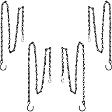 Outus 35 Inch Hanging Chain for Hanging Bird Feeders, Birdbaths, Planters and Lanterns, 4 Pack (Black)
