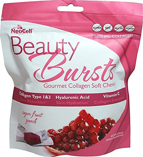 Soft Collagen (NeoCell - Beauty Bursts Gluten-Free Gourmet Collagen Super Fruit Punch - 60 Soft Chews)