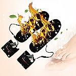 Semelles chauffantes adaptables rechargeables via câble USB pour femme/homme - pour chasse, pêche, randonnée, camping 10