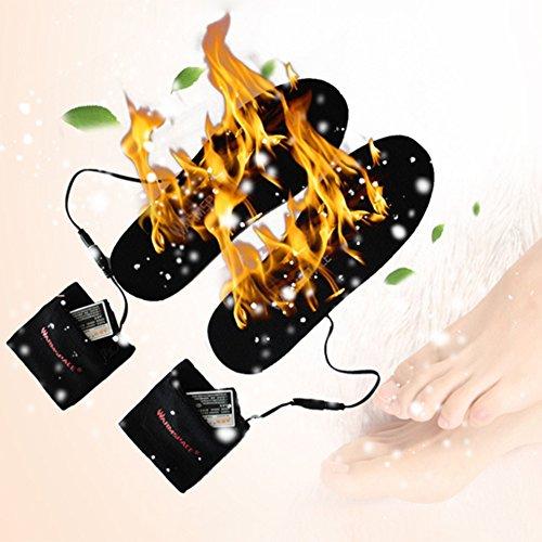Semelles chauffantes adaptables rechargeables via câble USB pour femme/homme - pour chasse, pêche, randonnée, camping 5
