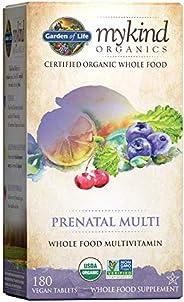 Garden of Life Organic Prenatal Multivitamin Supplement with Folate - mykind Whole Food Prenatal Vitamin, Vega