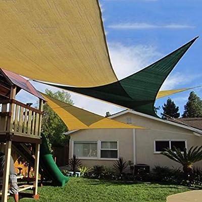 LXHONG-Malla Sombra De Red Diseño De Triángulo Anti-Ultravioleta Cifrado Tejido Jardín Máscara De Sombra Protector Solar, 2 Colores, 3 Tallas (Color : Green3.6x3.6x3.6m): Amazon.es: Hogar