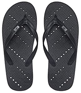 Showaflops Boys' Antimicrobial Shower & Water Sandals for Pool, Beach, Camp and Gym - Black 13/14