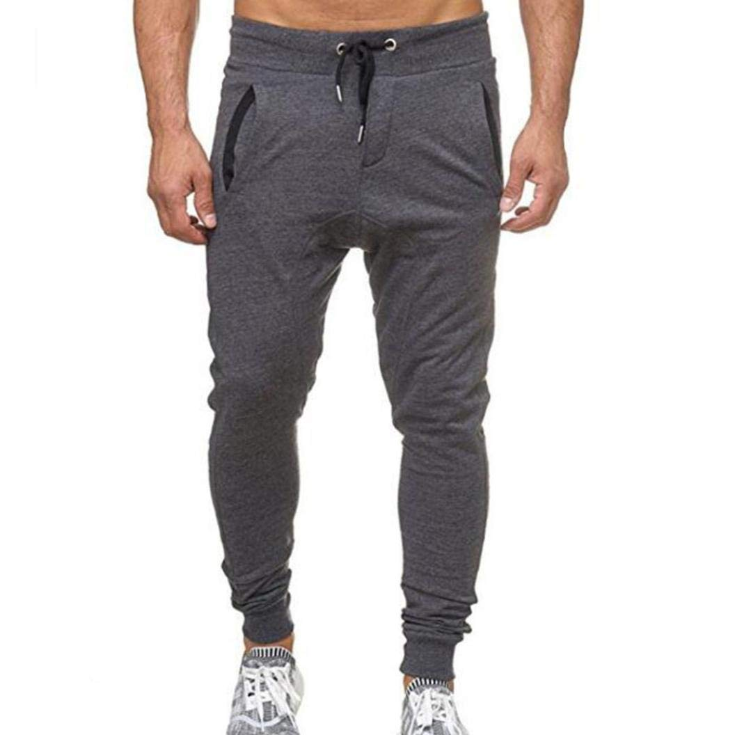 Clearance ! Joggers Men Sweatpants,Vanvler Male [Drawstring Pants] Sport Fitness Troussers Casual Fit Vanvler-Men Trousers