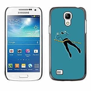 Shell-Star ( Cool Funny Crime Scene Body ) Fundas Cover Cubre Hard Case Cover para Samsung Galaxy S4 MINI / i9190 / i9192