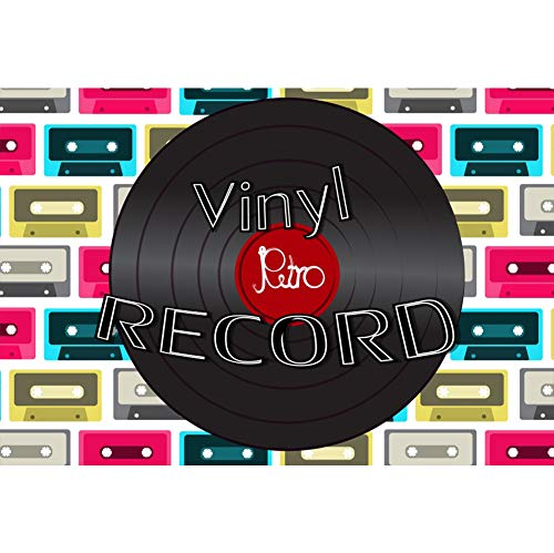 Leyiyi Old Tape Record Backdrop 5x3ft Photography Backdrop 70s 80s 90s Theme Disco Party Dance Hall Nightclub KTV Bar Pub Backdrop Photo Booth Props