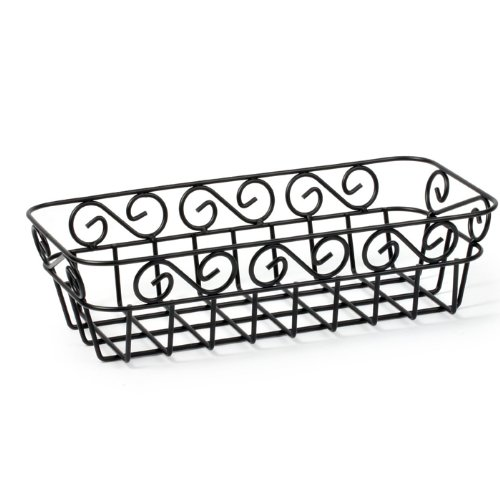 Spectrum Diversified Scroll Bread Basket, Black