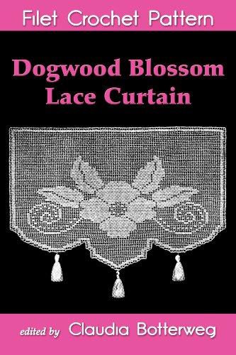 Dogwood Blossom Lace Curtain Filet Crochet Pattern