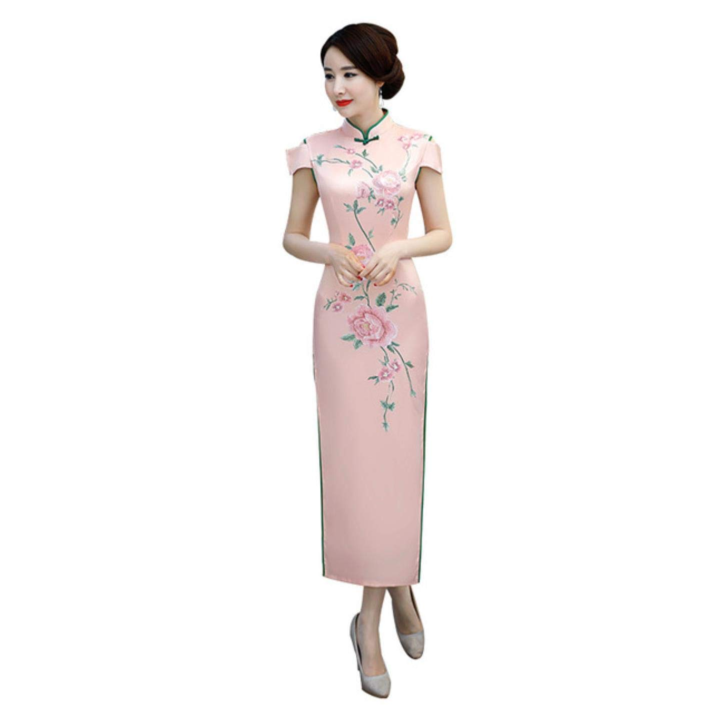 Traditional Chinese Female Slim Long Dress Vintage Women Qipao