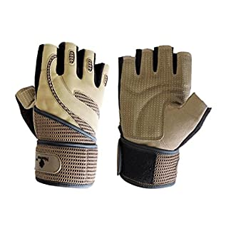 Noova Microfiber Full Palm Protection Weight Lifting Gym Gloves for Men and Women with Wrist Support Wraps 51o9yr4O7QL