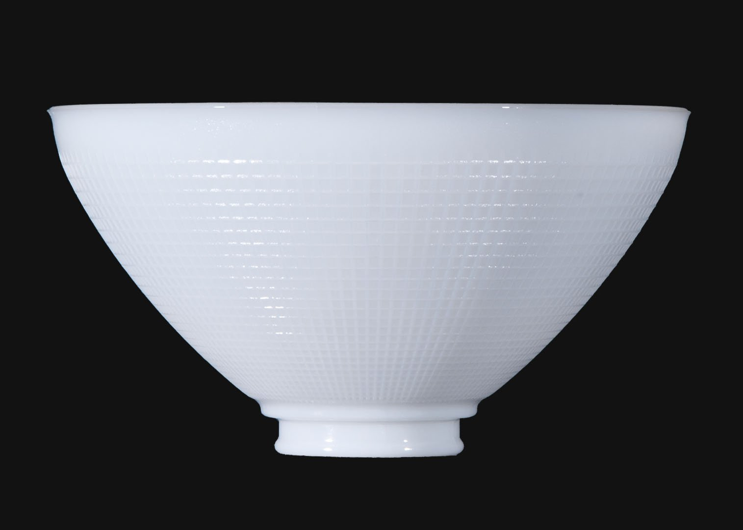 B&P Lamp 10'' I.E.S Opal Glass Reflector Shade for Floor Lamps and Mogul Sockets - Sets Below the Floor Lamp Shade