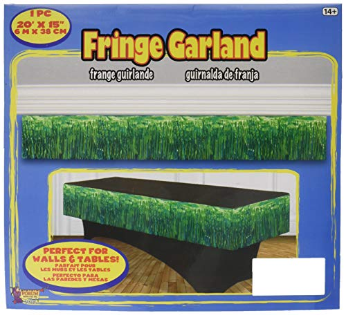 "Forum Novelties 76113, 20"" x 15"", Green Tinsel Fringe Garland,"