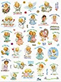Morehead Cherubic Angel Stickers ~ Angels of Faith, Love and Hope (47 Stickers; 1-1)