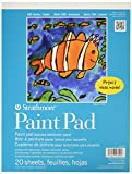 Strathmore 27-209 100 Series Youth Paint Pad, 9'x12' Tape Bound, 20 Sheets