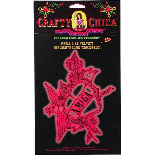 Chicos Velvet - Crafty Chica Flocked Iron-on Transfer - Amiga - Feels Like Velvet!