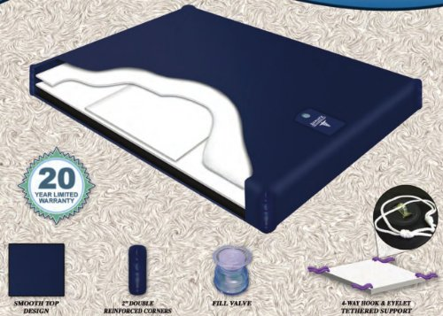 Semi Waveless Fluid Chamber Series 200 Mid Fill Softside Waterbed Bladder by Innomax Cal - Vinyl Bladders