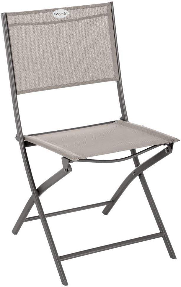 Hespéride Chaise Pliante extérieur Modula AmandeGraphite