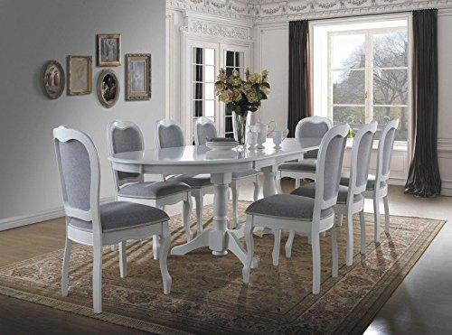 7-teilige Essgruppe Esstisch + 6 x Stühle Klassisch