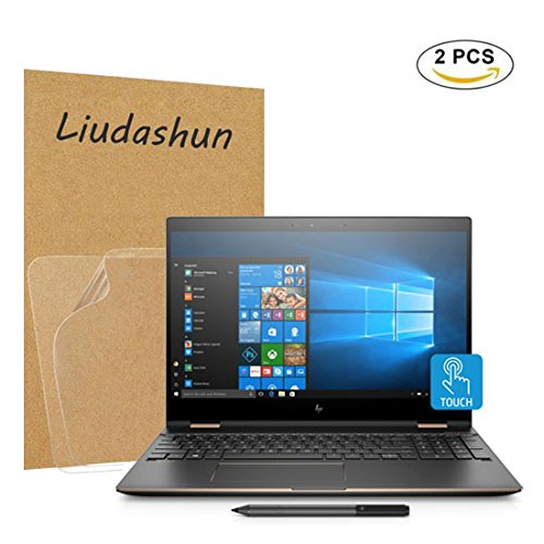 HP Spectre x360 15 ch series Screen Protector,HD Clear LCD Anti-Scratch Anti-Fingerprints Guard Film For 15.6'' HP Spectre x360 15-chXXX (15-ch000 to 15-ch999) series Laptop(2-pack) by Liudashun
