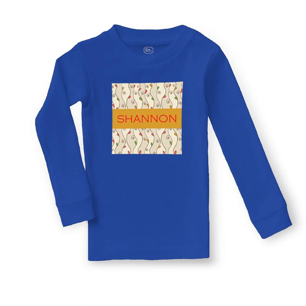 Personalized Custom Girly Design Leaves Cotton Sleepwear Pajama 2 Pcs Set