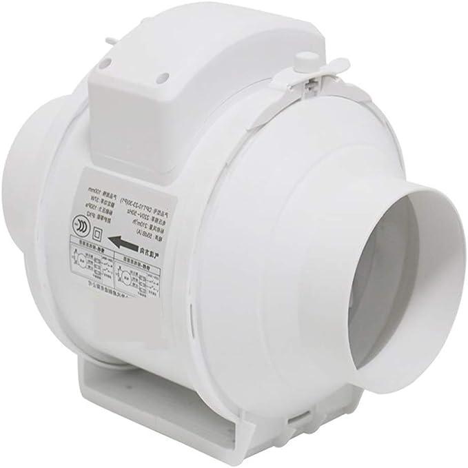 Ventilación Extractor Ventilador De Escape Conducto Circular Silencioso Diagonal Flujo Cocina Campana Extractora Potente Presurizado 100 Mm: Amazon.es: Hogar