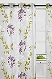 LJ Home Fashions Dreamscape Sheer 'Painted' Leaf Burnout Grommet Curtain Panels