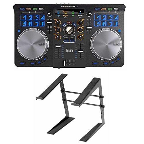 - Hercules 4780773 Universal DJ Controller Bundle Includes Laptop Stand