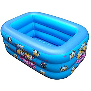 this item inflatable swimming poolchildrens rectangle folding inflatable pool blue