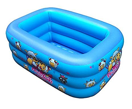 inflatable swimming poolchildrens rectangle folding inflatable pool blue - Rectangle Inflatable Pool
